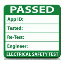 Passed PAT Test Label