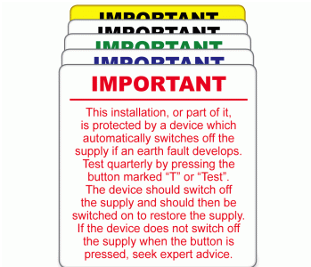 Electrical Inspection Labels
