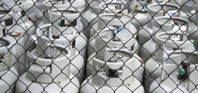 Gas bottles.