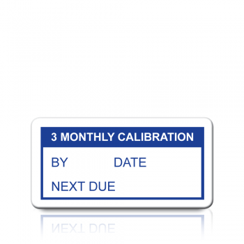 3 Monthly Calibration Labels in Blue