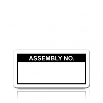 Assembly No. Labels in Black