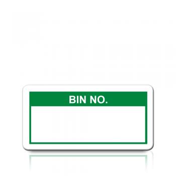 Bin No. Labels in Green