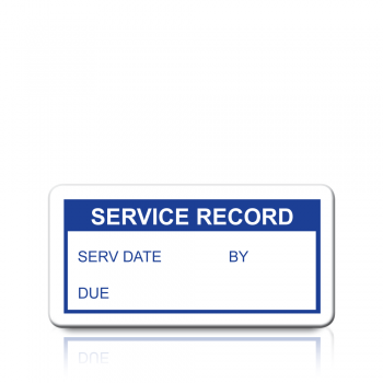 Service Record Labels in Blue