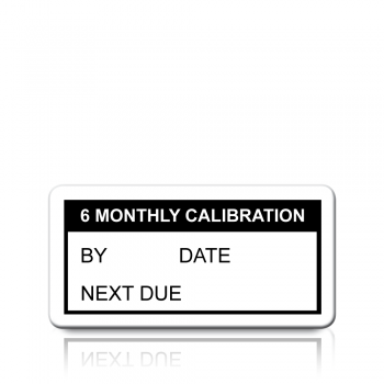 6 Monthly Calibration Labels in Black