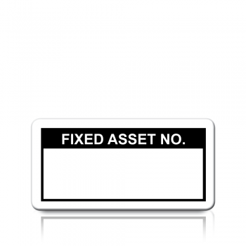 Fixed Asset No. Labels in Black