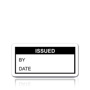Issued Labels in Black