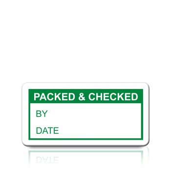 Packed & Checked Labels in Green