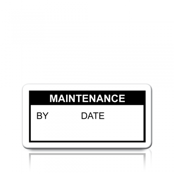 Maintenance Labels in Black
