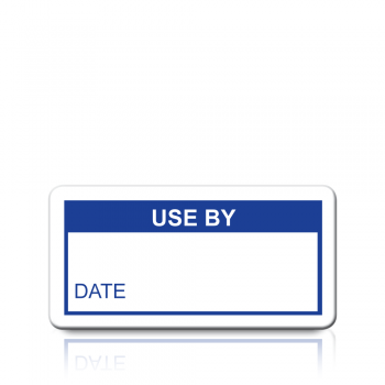 Use By Labels in Blue