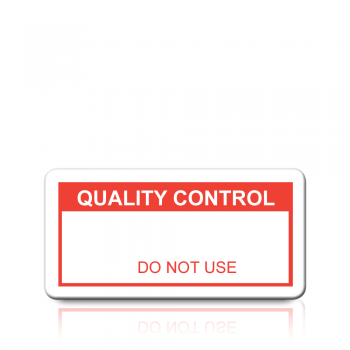 Quality Control Labels in Red