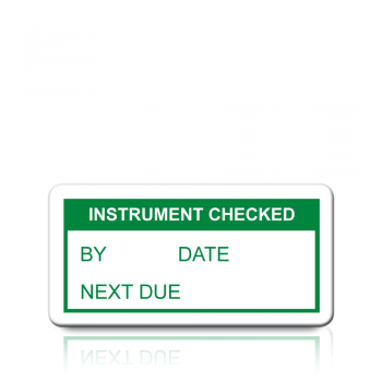Instrument Checked Labels in Green