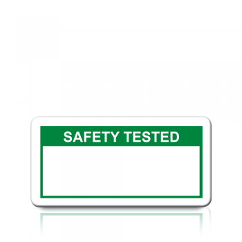 Safety Tested Labels in Green