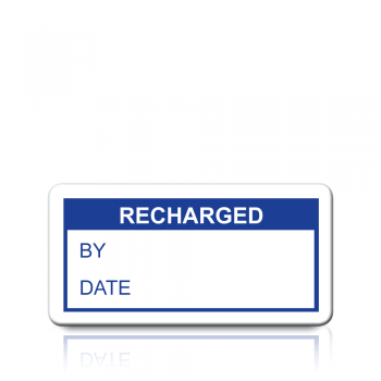 Recharged Labels in Blue
