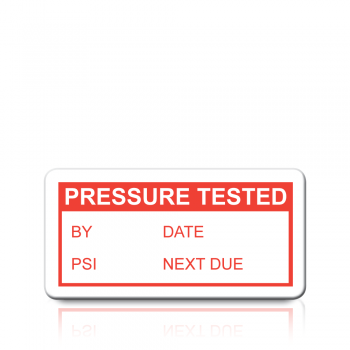 Pressure Tested Labels in Red
