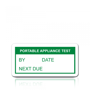 Portable Appliance Test Labels in Green