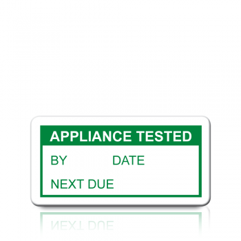 Appliance Tested Labels in Green