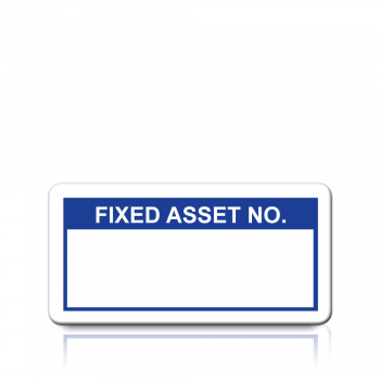 Fixed Asset No. Labels in Blue