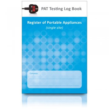 PAT Test Log Book & Register of Portable Appliances (Single Site)