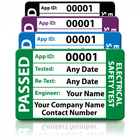 Personalised 3rd Edition Medium Passed PAT Test Labels. Choice of Colours