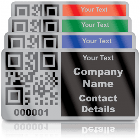 Silver Personalised QR Code Labels - Choice of colours
