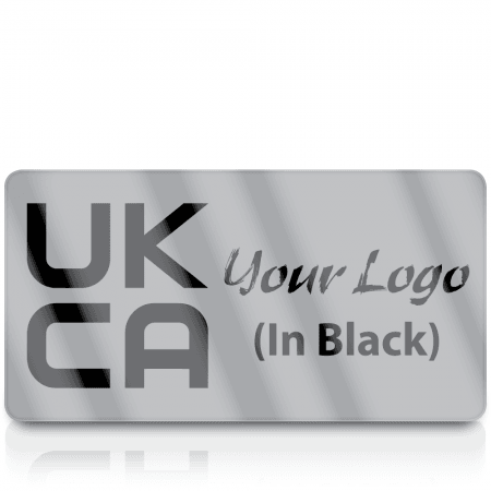 Silver UKCA Labels for UKCA Marking with Your Logo