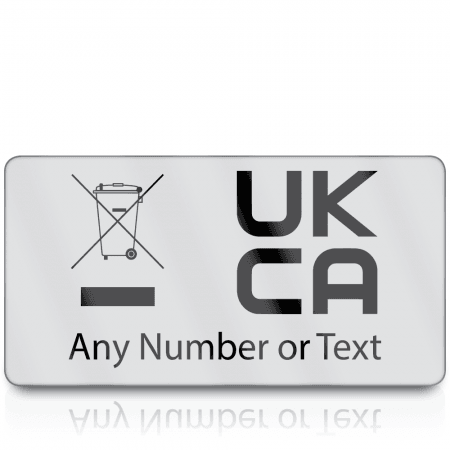 Personalised Premium Heavy Duty WEEE & UKCA Labels for UKCA Marking & Electronic Waste Disposal