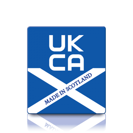 Premium Made in Scotland UKCA Labels - Sticks to almost anything!
