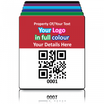 Super Stick QR Code Labels Fully Customisable - Sticks to almost anything! Design 3