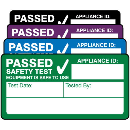 Standard 4th Edition Passed PAT Test Labels. Choice of Colours