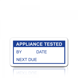 Appliance Tested Labels in Blue