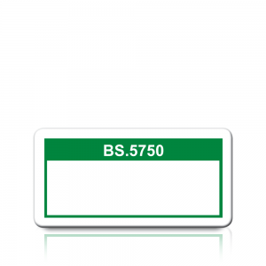 BS.5750 Labels in Green