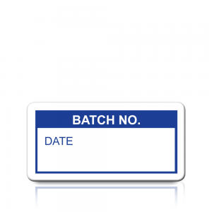 Batch No. Labels in Blue
