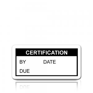 Certification Labels in Black