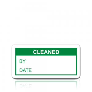 Cleaned Labels in Green