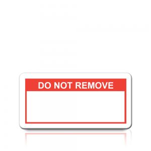 Do Not Remove Labels in Red