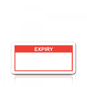 Expiry Labels in Red