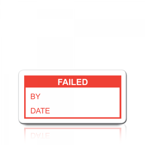 Failed Labels in Red