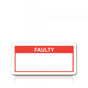 Faulty Labels in Red