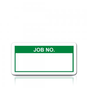 Job No. Labels in Green