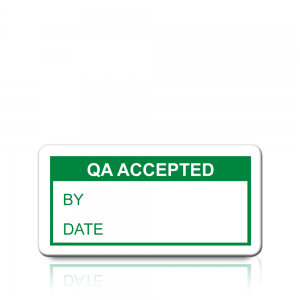 QA Accepted Labels in Green