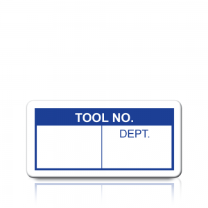 Tool No. Labels in Blue