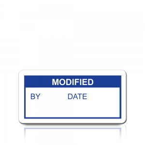 Modified Labels in Blue