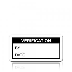 Verification Labels in Black