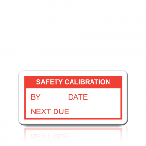 Safety Calibration Labels in Red