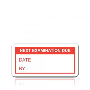 Next Examination Due Labels in Red