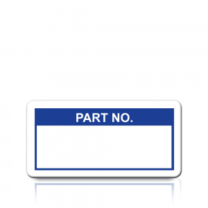 Part No. Labels in Blue