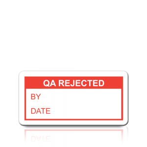 QA Rejected Labels in Red