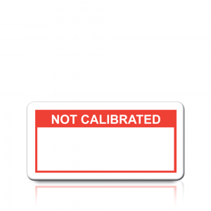 Not Calibrated Labels in Red