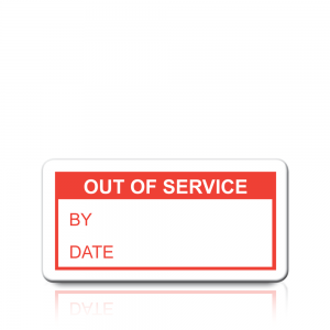 Out Of Service Labels in Red
