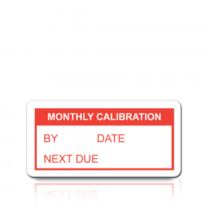 Monthly Calibration Labels in Red